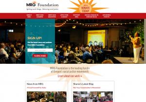 MRG Foundation website screenshot